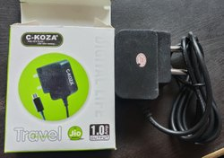 Black Travel Jio Mobile Charger