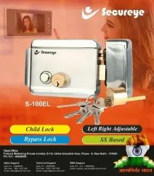 SECUREYE Stailless Steel SECURITY ELECTRIC DOOR LOCK SYSTEMS, Finish Type: Stainless Steel, Model Name/Number: S-100EL