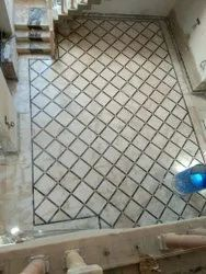Tile/Marble/Concrete Makrana Marble Flooring Service, For Indoor