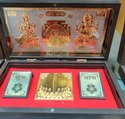 Puja Items Golden Laxmi Ganesh Yantra, Size: 10*10