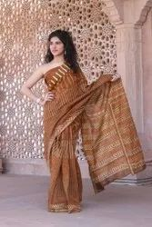 Chanderi Silk Batik Print Saree