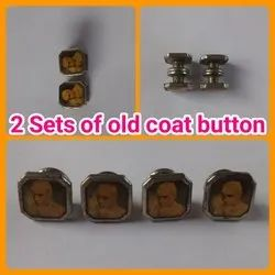 Black Metal Two sets of Coat Button