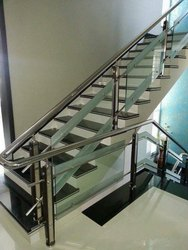 SSM41 Stainless Steel Glass Stair Railing