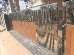 Stainless Steel Wooden Sliding Gate