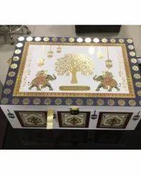 Fancy luxury wedding box and card printed digital paper leaf printing Boxers