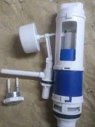 White PVC Dual flesh tank fitting