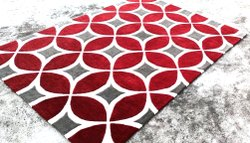 For Home Red Hand tufted