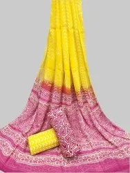 Cotton Chiffon Dupatta Salwar Suit