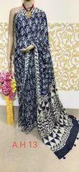 Katan Silk Hand Block Printed Sarees