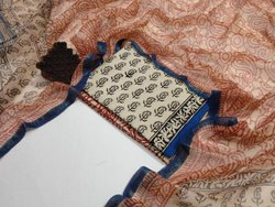Party Wear Bagru hand block printed with kota doriya