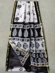 Hand Work Chanderi Silk Saree, 6.5 Mtr With Blouse