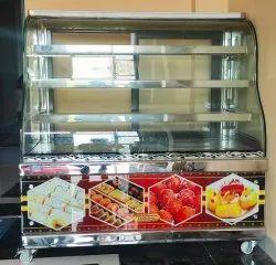 Glass Ss Counter, For Restaurant