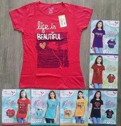 Hosiery Casual Wear Printed Fancy Kids T Shirts, Size: 5-7 Years