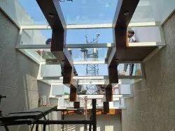 Transparent 12mm Tafan Glass, For Office, Shape: Flat