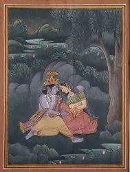 Radha Krishna paper sheet painting