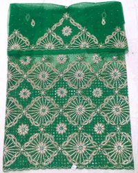Green African George Fabric, For Wedding