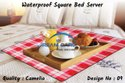 """Variety Of Colors Available Pvc Waterproof Square Bed Server Food Mat, Size: 36""""x36"""""""