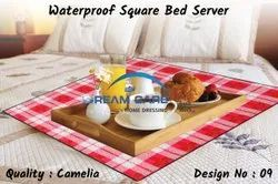 Variety Of Colors Available PVC Waterproof Square Bed Server Food Mat, Size: 36