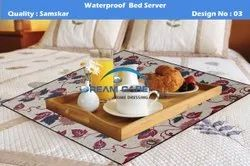 PVC Printed Waterproof Bed Server Food Mat, Size: 36*36 Inch
