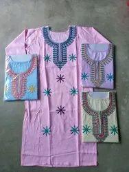 Casual Wear 3/4th Sleeve Kurtis, Size: XL, Wash Care: Handwash
