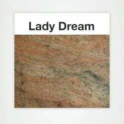 Multicolor Polished Lady Dream Granite Slab, For Flooring, Thickness: 15 mm