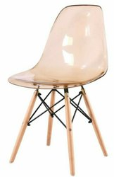 Federtek Modern Acrylic Dining Chair, For Home, Set Size: Single