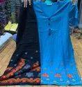 Rayon Kurti With Embroidery Work Plazo