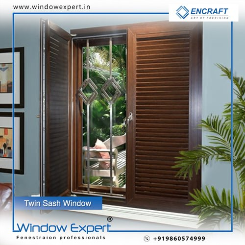 ENCRAFT Twin sash UPVC window