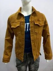 Men Collar Neck SKUPAR COLOURED DENIM JACKET