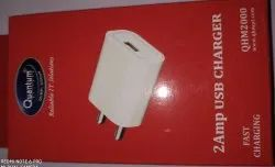 1mtr White Quantum Mobile Charger Single Port