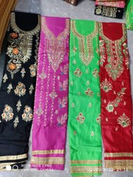Jam Booti Pure Cotton With Chinon Dupatta Embroidery Suit