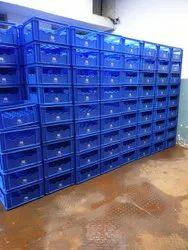 Square Solid Box Plastic Milk Crate, For Storage