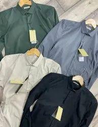 BB Collar Neck Mens Cotton Shirts, Machine wash, Size: S-xxl