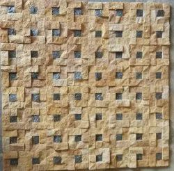 Choice Stone Brown Small Mosaic Tiles, Thickness: 10 mm, Size: 300 X 300 Mm (w X L)