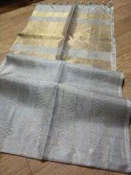 Pure Tissue Silk Linen Sarees