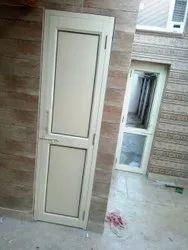 Color Coated Brown Aluminium Glass Bathroom Door, Design/Pattern: Flower Design