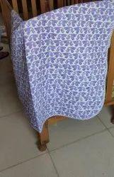 Hand Block Monkey Printed Baby Machine Quilt