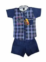 Male Checked Kids Cotton Shirt Washing low price, Size: 1-7 years