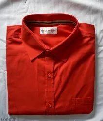 Collar Neck Plain Mens Shirt