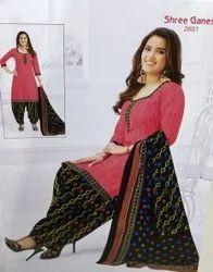 Stitched Churidar Shree Ganesh Ladies Suits