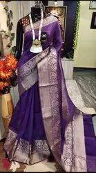 Banarasi Silk Linen Sarees