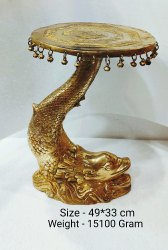 Brass Fish Round Table, For Home, Size: Size - 49*33 Cm