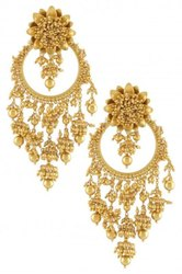 Blue Brass Earrings