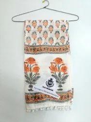 Ladies Hand Block Printed Stole