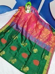 Uppada Soft Silk Buta Work Sareee