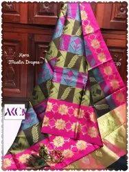 Designer Kora Muslin Silk Saree