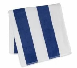 Blue Stripped Pool Towel, 700 to 750 grams, Size: 30*60