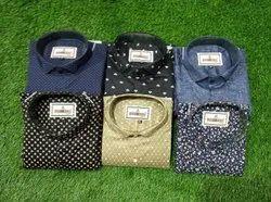 Mix Men Cotton Printed Shirt, Size: M-xxl