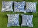 Indigo Blue Cotton Cushion Covers