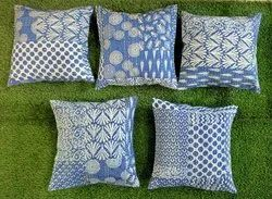 Indigo Blue Cotton Cushion Covers
